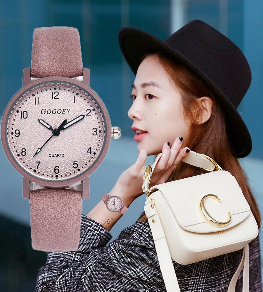 Gogoey Women Watches 2019 New Fashion Brand  Women's Watch Leather Quartz Clock Relogio Feminino Zegarki