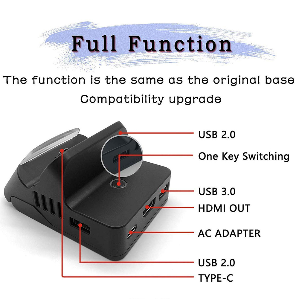 Switch Charging Stand, Adjustable and Play Portable Charger Bracket, HDMI Charging Dock Station for Nintend Switch Host 1