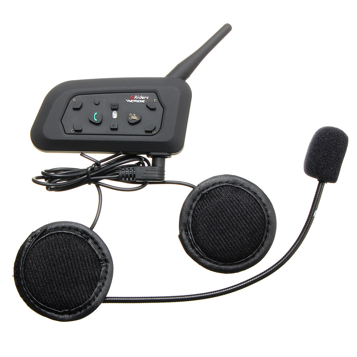 Motorcycle Helmet Intercom Headset 1000M Bluetooth Function 6 Riders Communication Noise Control Waterproof Intercomunicadores