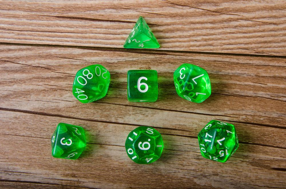 Table Game Accessories Creative DICE 7 Pieces Of Creative Multi-sided Dice [7 Sets] Dice