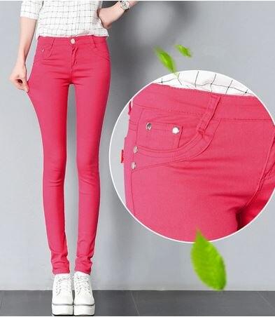 Ligentleman 2020   Jeans Trousers Women Black White Women Pants Pencil Skinny Harem Pants Slim