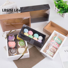 LBSISI Life 10pcs Transparent Lid Baby Show DIY Handmade Cake Package Favor Birthday Party Celebrating Delicious Donuts Gift Box