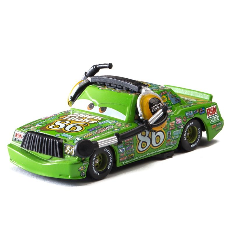 Cars Disney Pixar Cars  3 Role Narrator Chick Hicks Lightning McQueen Jackson Storm Mater 1:55 Diecast Metal Alloy Model Car Toy