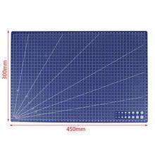 Tapis de coupe de ligne de grille rectangulaire en PVC A3, outil de bricolage 45cm x 30cm 1 pièce