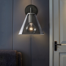 Nordic Iron Glass LED Wall Lamps for Indoor Decor Sconces Light Fixture Living Room Bedroom Bedside Decoration Wall Light
