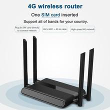 4g roteador wi fi áfrica 4 porto roteador com cartão sim usb 2402 802.11n/b/g 300mbps 2.4g roteador lan wan 10/100m pci e roteador sem fio