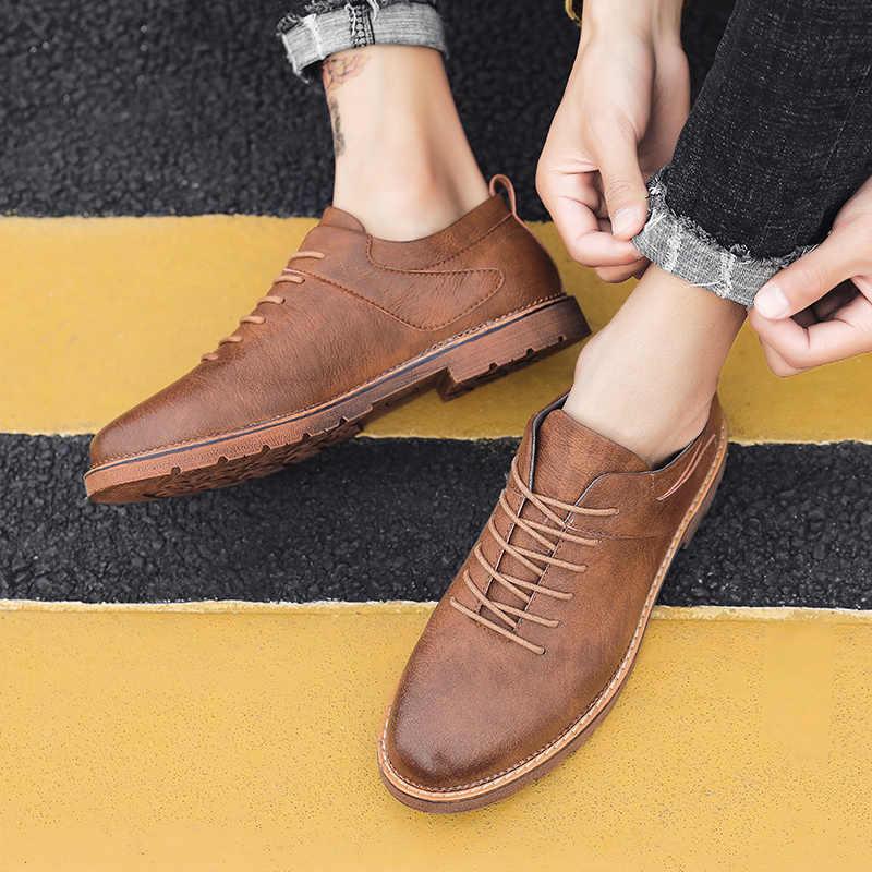 الرجال حذاء كاجوال ماركة بقرة انقسام الجلود خفيفة الوزن الرسمي أكسفورد الشقق الحد الأدنى أحذية للرجال الأعمال اللباس Zapatos Hombre