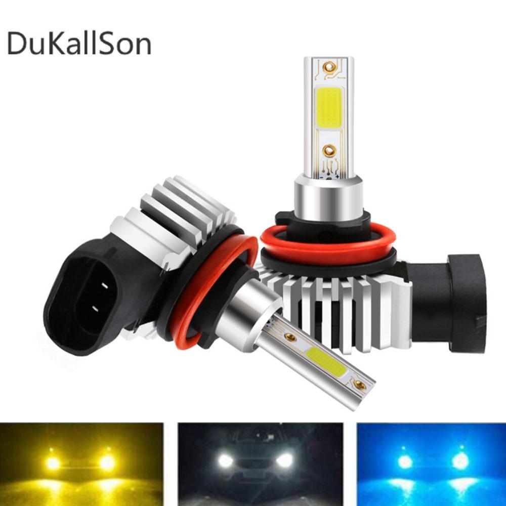 80 Вт светодиодный мини автомобильный фонарь H7 светодиодный H3 H4 H1 H8 H11 9005 HB3 9006 HB4 COB 12000LM 6000K 12V 24V Canbus D9 лампа авто Стайлинг