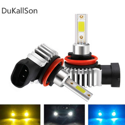 H7 80W Led Mini Farol Do Carro LED H3 H4 H1 H8 H11 9005 12000LM HB3 9006 HB4 COB 6000K 12V D9 24V Canbus Lâmpada Auto Styling