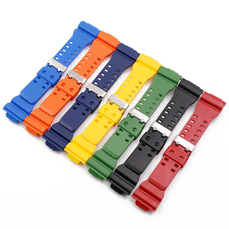 Rubber Watch Strap Men's Pin Buckle Resin Watch Band for Casio <font><b>G</b></font>-<font><b>Shock</b></font> GD120 GA100 GA110 GA400 <font><b>Watchband</b></font> Watch Accessories image