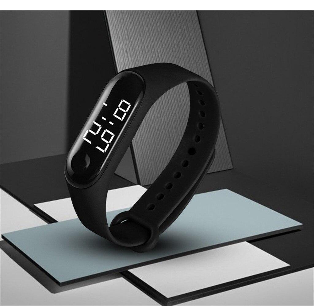 Men and women watch LED electronic sports watch light sensor type watch waterproof touch electronic watch montrenumérique 50%(China)