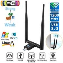 DZLST AC 1200M Wireless Network Card 2.4G 5 .8G Double frequency Gigabit For Windows XP 7 8 10 Usb 3.0 Wifi Adapter