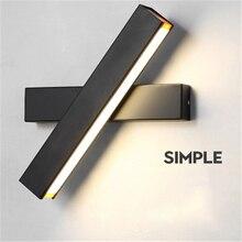 Nordic Creative LED Wall Lamp Simple Modern Bedroom Corridor Aisle Wall Bedroom Bedside Rotating Wall Lights Free Shipping цена 2017