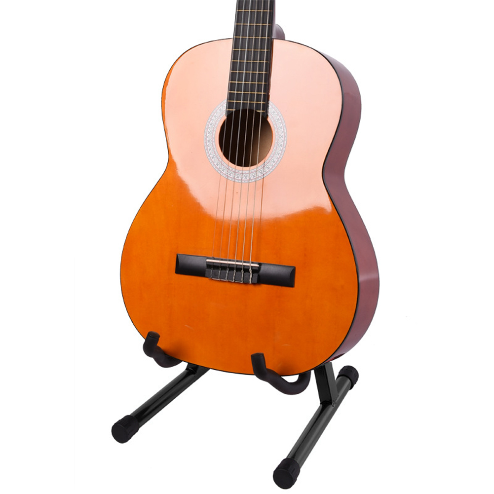 Us 10 81 32 Off Guitar Bracket A Type Collapsible Electric Guitar Base Bass Cello Portable Violin Stand Ukulele String Instrument Floor Stand On