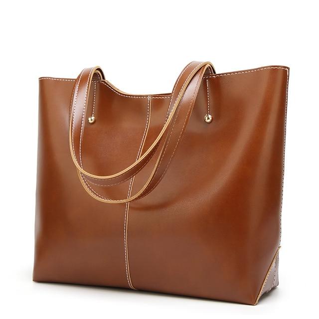 100% Genuine leather Women handbags  New Women's Korean version of big sweet fashion soft bag slung one shoulder 2