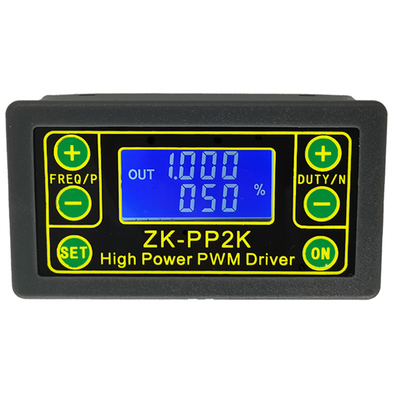 ZK-PP2K PWM DC 3.3-30V 12V <font><b>24V</b></font> <font><b>Motor</b></font> Speed <font><b>Controller</b></font> Regulator 8A 150W Adjustable LED Dimmer Pulse Frequency Duty Ratio image