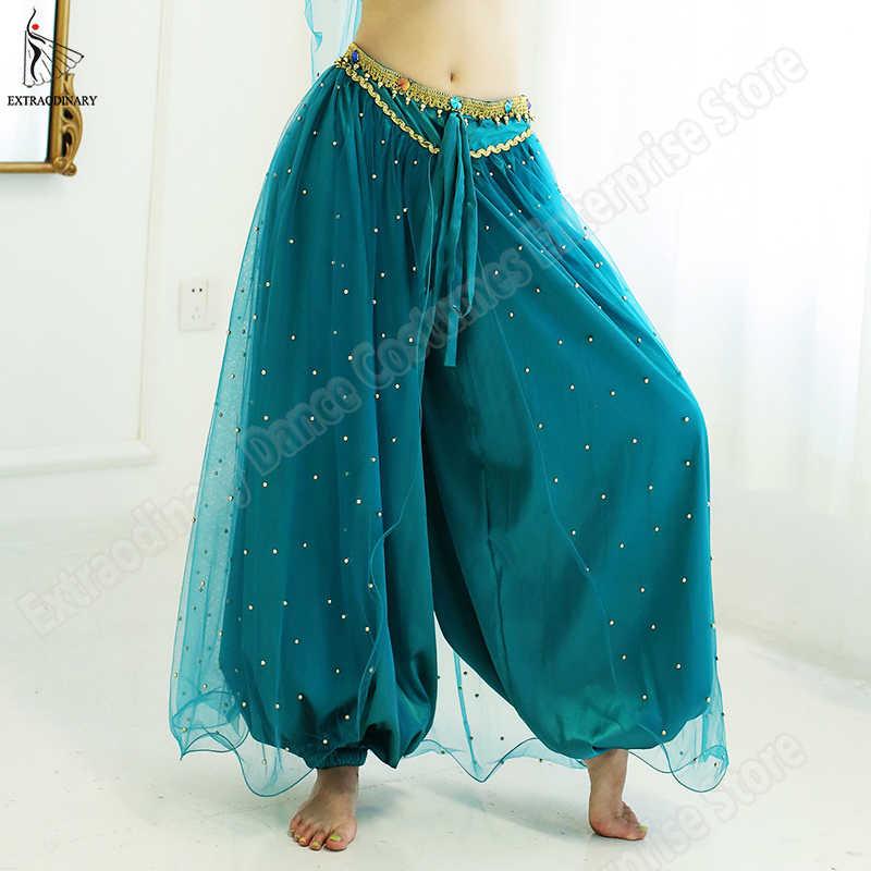 Oryantal dans yasemin prenses kostüm cadılar bayramı kadın çocuk yeni Bollywood üst pantolon peçe çocuklar prenses kıyafet
