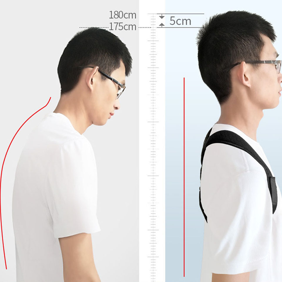 NEW Back Posture Corrector Belt Women Men Prevent Slouching Relieve Pain Posture Straps Clavicle Support Brace 2