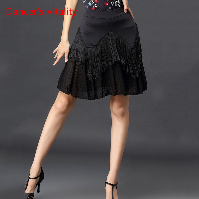 Latin Dance New Female Adult Sexy Tassel Skirt National Standard Clothes Swing Ballroom Dance Performance Costume