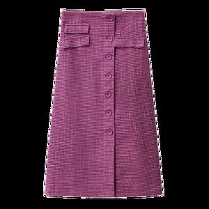 Image 5 - Amii Mùa Xuân Pháp Một Từ Nửa Váy Nữ Cao Cấp Kẻ Sọc Ngang Gối Váy 11920173