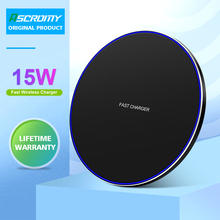 15W Qi Wireless Charger Pad For Iphone 11 Pro Max XR XS MAX Samsung S10 S9 Note 10 Huawei P30 Pro Fast Wireless Charging Station