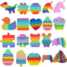 Ananasowy Pop Fidget reliever stres zabawki Rainbow Push jego Bubble zabawki antystresowe zabawka sensoryczna aby złagodzić autyzm darmowa wysyłka tanie tanio CN (pochodzenie) 25-36m 4-6y 7-12y 12 + y fidget toys antistress None Zwierzęta i Natura Do jazdy Fantasy i sci-fi Zawody