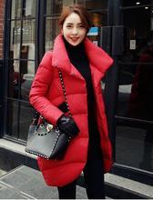 Doudoune épaisse noir rouge bleu marine pour femmes et longues sections manteaux pour femmes