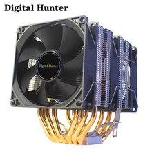 X79 X99 refroidisseur de processeur 6 caloducs double tour 4pin ventilateur PWM PC silencieux pour Intel LGA 2011 1151 1155 AMD AM3 AM4 90mm CPU ventilateur de refroidissement