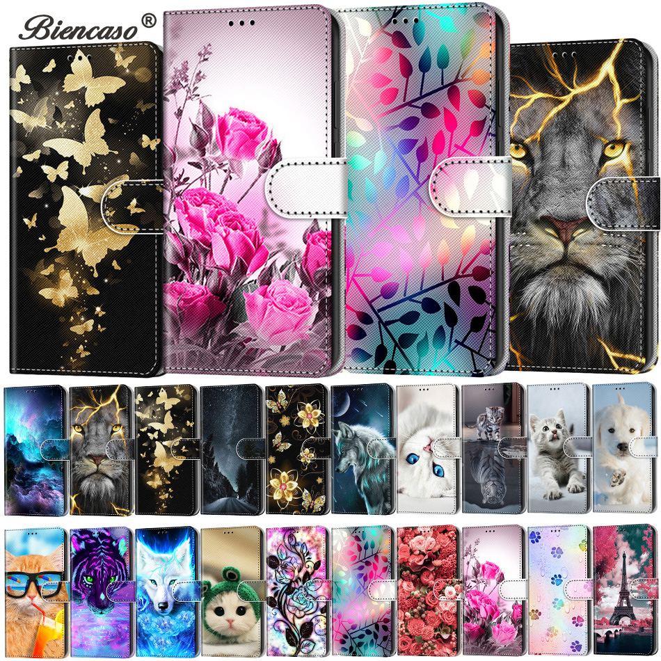 Leather Phone Bags Card Slot Wallet Flip Case For Redmi Note 9 Pro 9S 8T 9A 9C Fundas For Xiaomi 10 Lite 5G Mi 10 Pro Back Cover