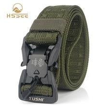 HSSEE – ceinture tactique militaire en Nylon véritable, accessoire de sport officiel, PC dur, boucle magnétique à dégagement rapide, souple