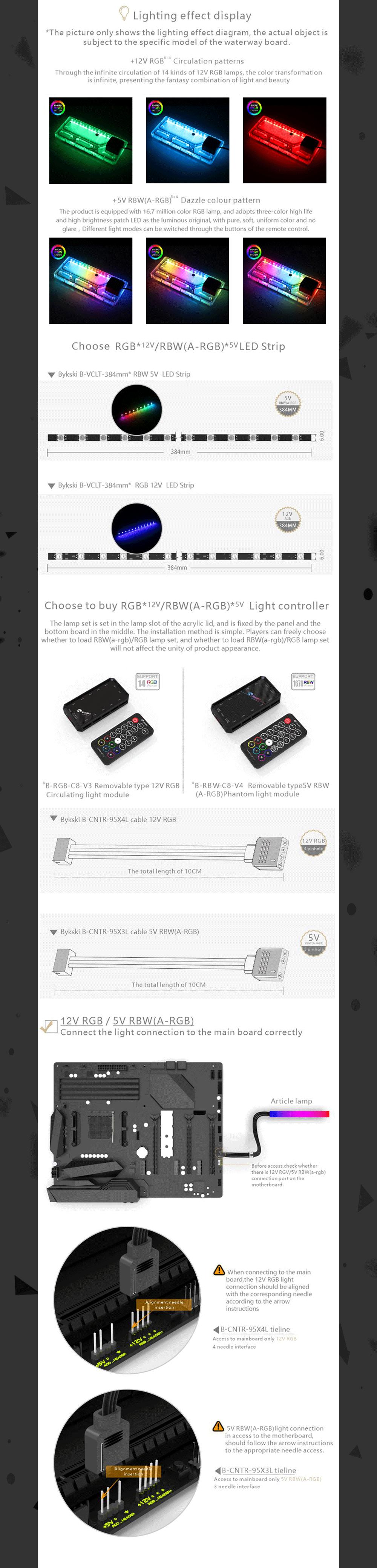 Bykski Waterway Cooling Kit For Antec P120 Case, 5V ARGB, For Single GPU Building, RGV-Antec-P120-P