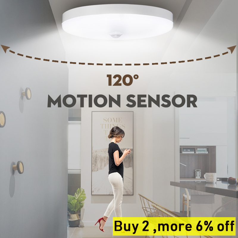 Modern LED Motion Sensor Ceiling Lamp 12W 220V Led Ceiling Light Lighting Fixtures Surface Mount Ceiling Lights For Living Room
