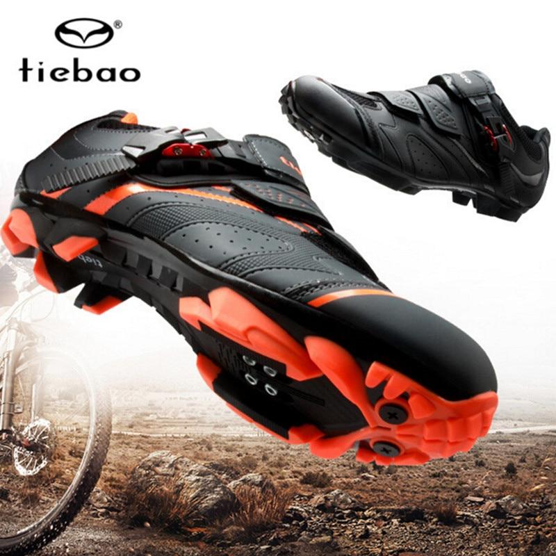 Tiebao Cycling Shoes sapatilha ciclismo mtb Men sneakers Women mountain bike shoes Self-Locking superstar original Bicycle Shoes(China)