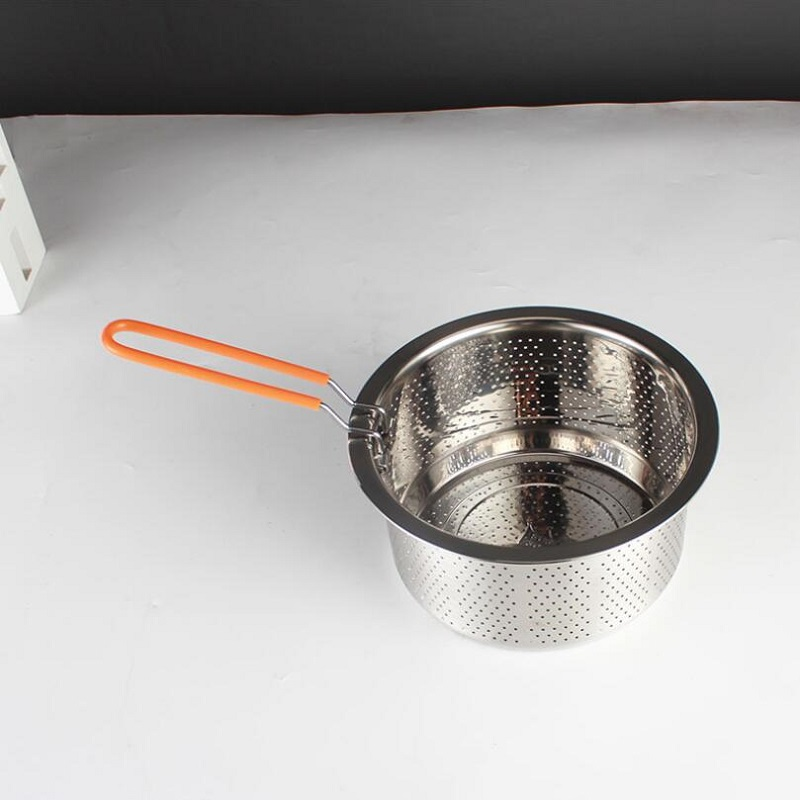 304# Stainless Steel Thickened Rice Washer Electric Cooker Accessories Steaming Grid With Handle Steamers Colander