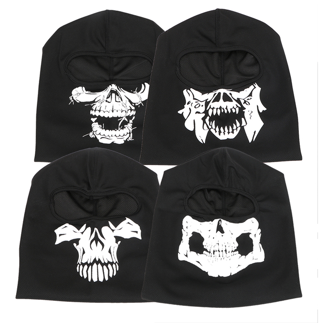 LEEPEE Halloween Ghost Skull Breathable Full Face Mask Unisex Motorcycle Bike Windproof Mask Winter Ski Mask Balaclava 1