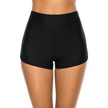 Women's Swim Shorts High Waist Shorts Board Shorts Beach Bik