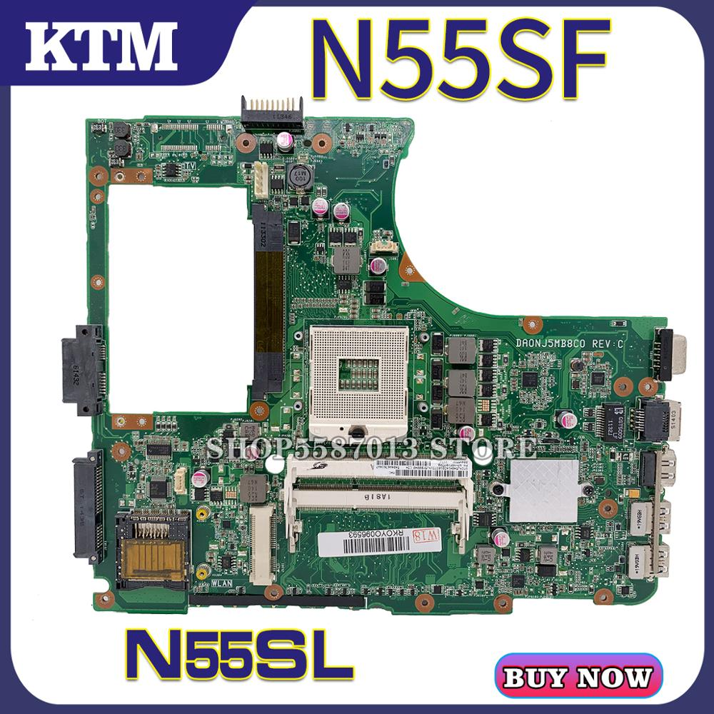 N55S For ASUS N55SF N55SL Laptop Motherboard N55SF Mainboard 100% Test OK HM65