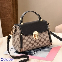 Women Printed Designer Bucket Bags 2019 New Gold Lock Handbag Purses Fashion PU Leather Bags Handbags Luxury Ladies Shoulder Bag