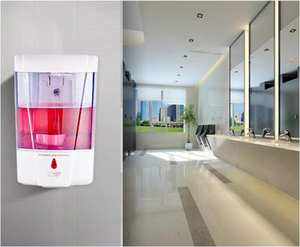 Soap-Dispenser Touchless-Sensor Kitchen 60PCS for Bathroom 700ml Hand-Sanitizer Wall-Mounted