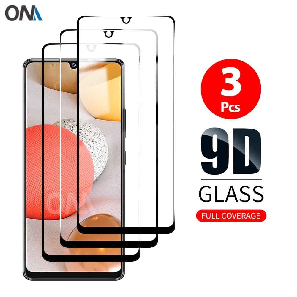 Ekran koruyucu için Samsung Galaxy A40 A41 temperli cam Premium tam kapsama koruma cam filmi Samsung Galaxy A42 5G
