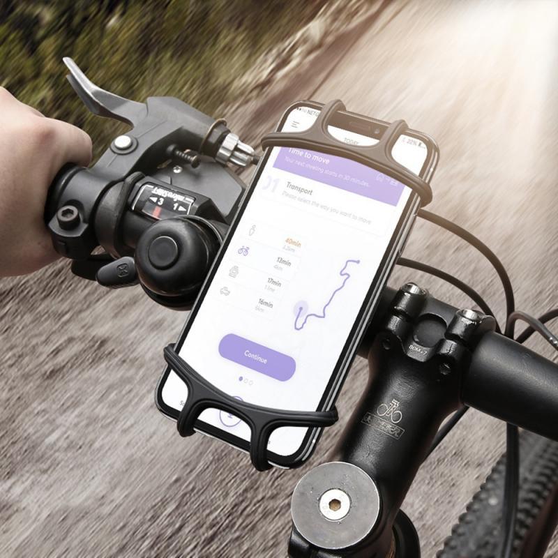 Soporte Universal para teléfono de bicicleta, correas de silicona, antideslizante, para iPhone y Samsung