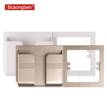 Bcsongben ЕС розетка USB зарядное устройство на стене 2.1A два порта телефон вилка адаптера зарядного устройства розетка адаптер паста держатель
