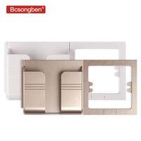 Bcsongben EU buchse USB port ladegerät 2.1A dual ports telefon ladegerät adapter stecker steckdose Adapter Paste Halter