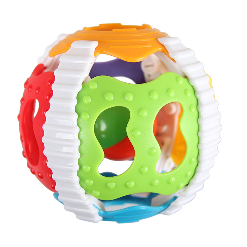 2019 Colorful Baby Soft Hand Catcher Rattle Ring Bell Toys Handrattle Safty Balls Toy Baby  Educational Toys #19