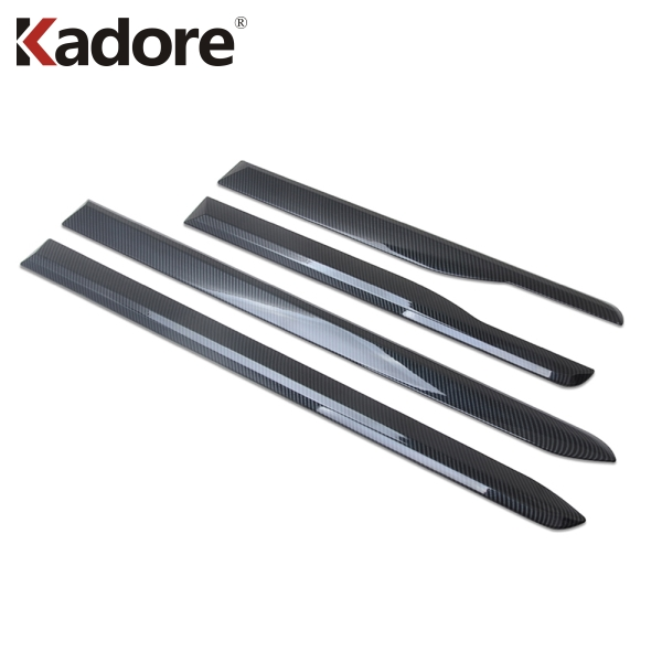 For <font><b>Hyundai</b></font> <font><b>Santa</b></font> <font><b>Fe</b></font> 2019 2020 Carbon Fiber Side Door Body Molding Line Cover Trim Protector Decoration Exterior <font><b>Accessories</b></font> image