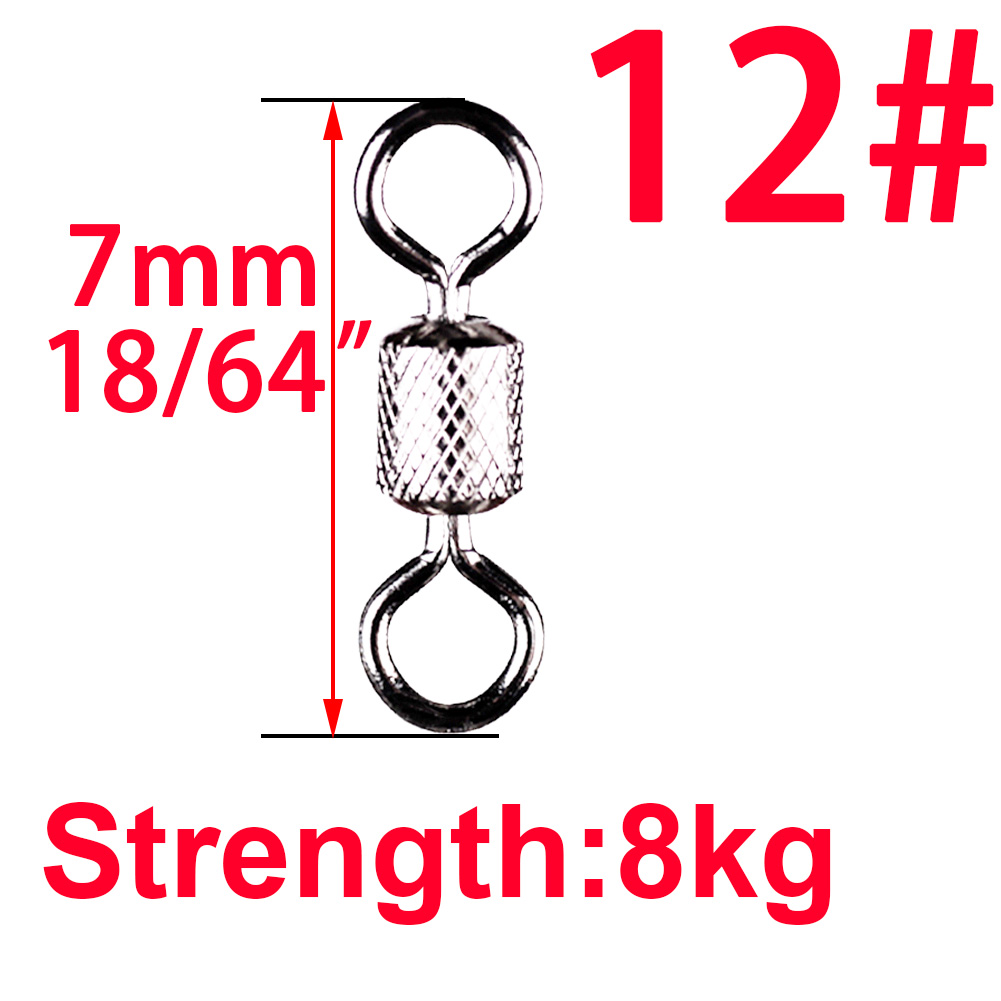 Image 5 - 100pcs Stainless Steel Ball Bearing Rolling Swivel Fishing Connector Accessories Sea Hook Lure Hook Snap Tackle Winter Fish Gear-in Fishing Tools from Sports & Entertainment