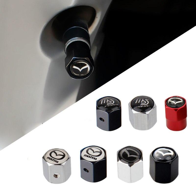 For Mazda 5 6 323 626 Rx8 7 Mx3 Mx5 Atenza Axela Durable Car Air Valve Stem Cap Metal Automobile Tire Valve Cover Accessories