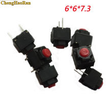 ChengHaoRan 1pcs Mute pulsante 6*6*7.3mm interruttore Silenzioso mouse senza fili del mouse del mouse cablato pulsante micro interruttore red Push button switch(China)