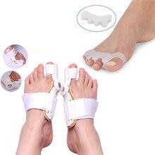 Separatory palców wkładka korekcyjna na palce Protector Big Bone Toe aparat na haluksy prostownica zapobieganie ból stóp Relief palucha koślawego pielęgnacja stóp
