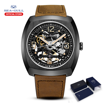 2020 Seagull Watch Men's Barrel Automatic Mechanical Hollow Perspective Luminous Large Dial 849.27.6094 - discount item  61% OFF Men's Watches